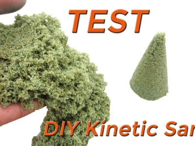 DIY Kinetic Sand with Glue, Sand, Food Coloring and  Maica Cream at Home TEST