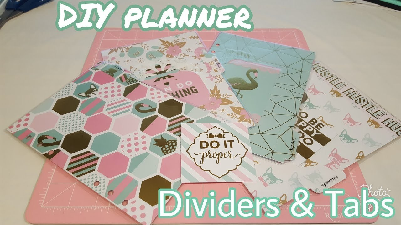 DIY Planner Dividers and Tabs