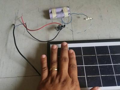 DIY Solar Night Lamp. Mini Solar Street Light using TP4056 board