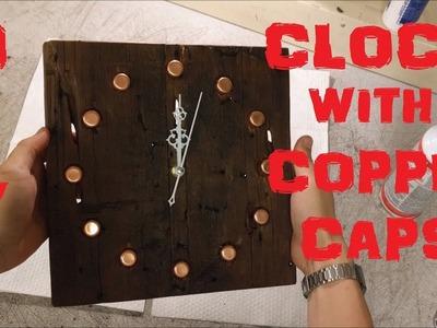 DIY WALL CLOCK  MADE WITH BARN WOOD