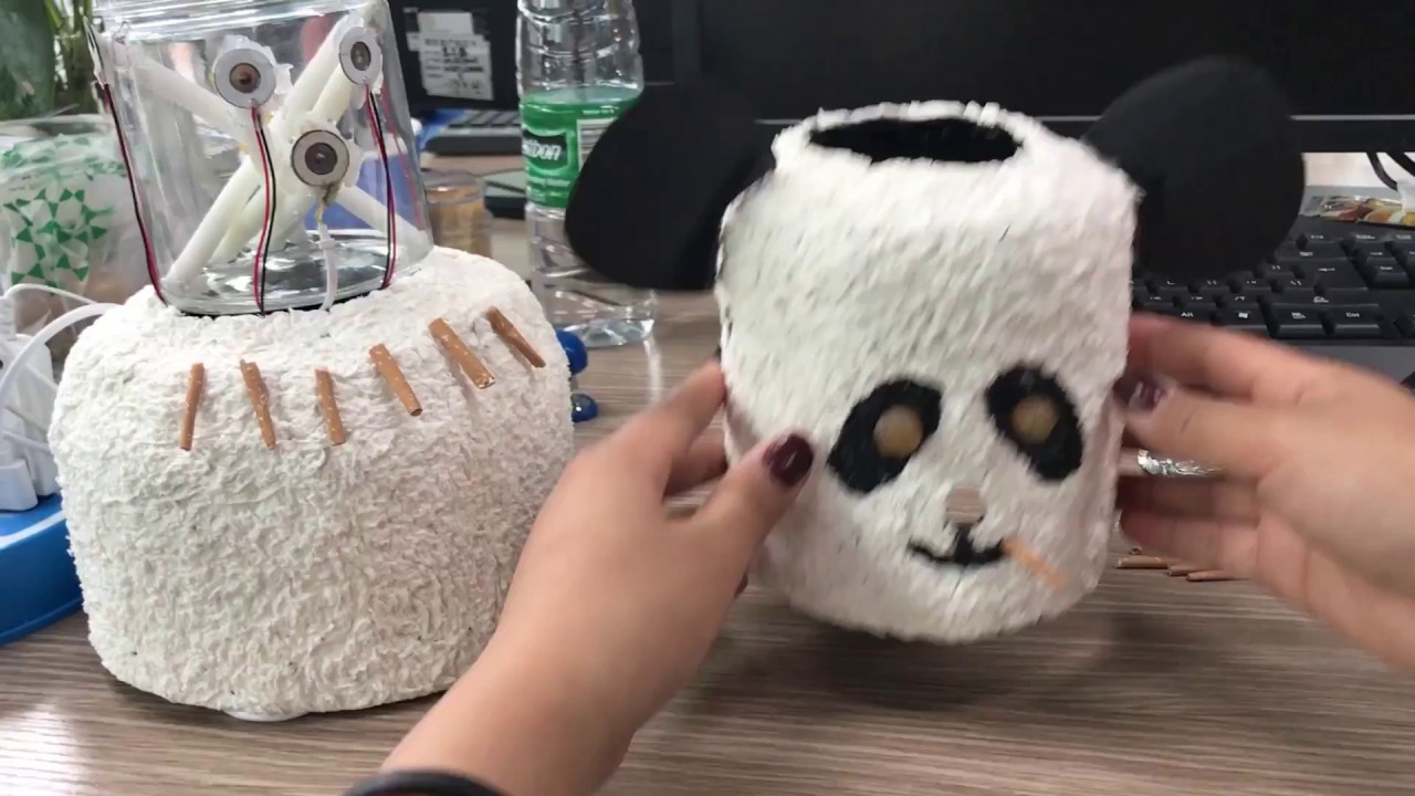 E01 DIY Panda Humidifier in Office? So easy | Ms Do