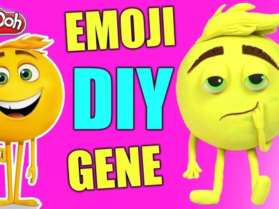 Emoji Movie DIY how to Make Emoji Play Doh GENE - Plastilina Play Doh