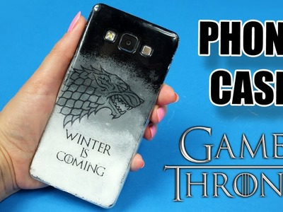 GAME OF TRONES Phone Case DIY.  How to transfer a picture to a phone case with mod podge