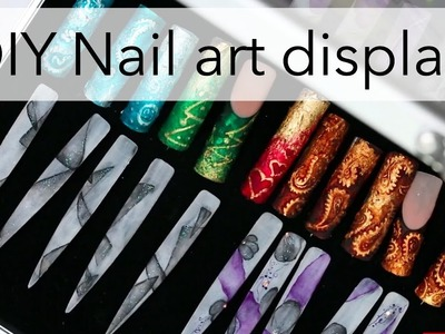 How to display your nail art | DIY idea for tips with designs