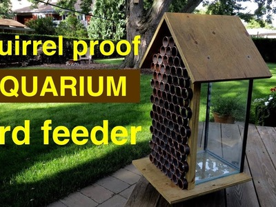 How to make ● a  SQUIRREL PROOF  Bird Feeder ( from an aquarium ! ! )