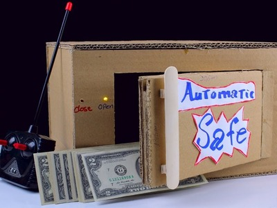 How to Make Automatic Safe Locker from Cardboard with Auto Lock | Diy  Remote control Safe