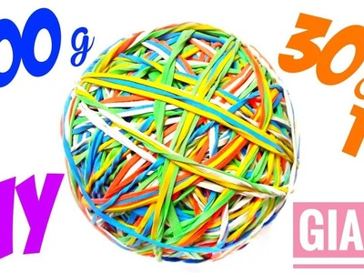 How To Make  Giant Bounce Ball Out Of Rubber Bands - DIY Bouncy Ball