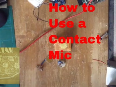 How to use an acoustique contact microphone. A DIY audio piezo transducer violin pickup demo.