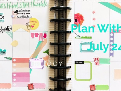 Plan With Me. Classic Happy Planner. July 24-30