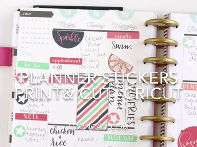 Print and Cut Planner Stickers with Cricut Explore