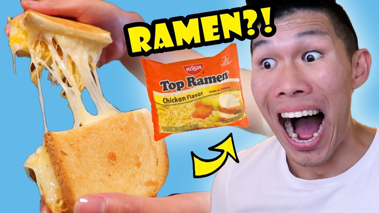 RAMEN IN GRILLED CHEESE SANDWICH? Tasty DIY || Life After College: Ep. 557
