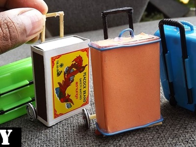 Rolling Luggage Toy for kids | Easy Miniature Furniture DIY