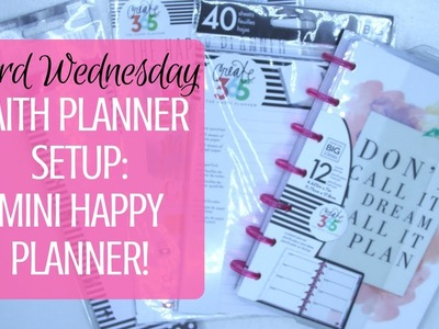Setting Up My Faith Planner!    Word Wednesday!