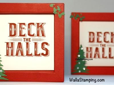 Shadow Box Christmas Card - Carols Of Christmas