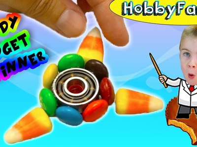 We Make a CANDY Fidget Spinner! Reese's PB Cup DIY HobbyFamilyTV
