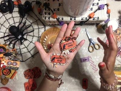 #1. DIY Halloween Admit One Ticket Embellishments - Halloween Craft Series 2017