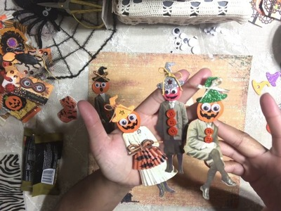 #11. Altered Tim Holtz Paper Dolls - Halloween Craft Series - Vintage Inspired