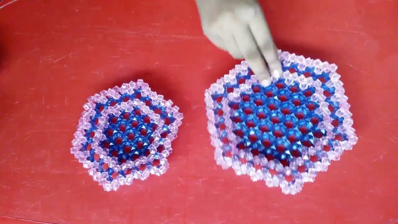 Amazing! DIY Craft Ideas - How to Make Crystal  Beaded Basket For Fruits - Crystal Beaded Showpiece