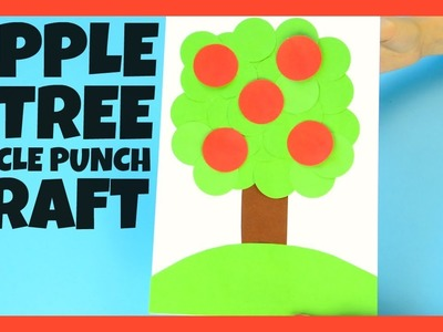 Apple Tree Paper Craft for Kids - back to school craft for kids