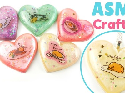 ????ASMR.Watch Me Craft-Gudetama Resin Pieces-Soft Whispers, Crinkly Plastic (with music)