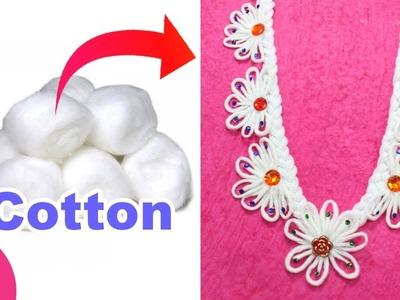 COTTON GARLAND for Ganapati Bappa.Maha Laxmi.Durga Devi Mata - Cotton Craft