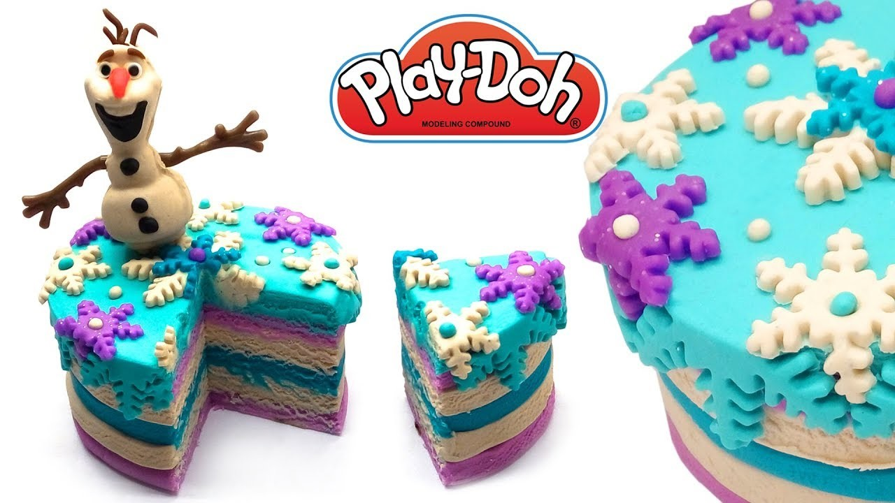 How To Make A Play Doh Frozen Cake