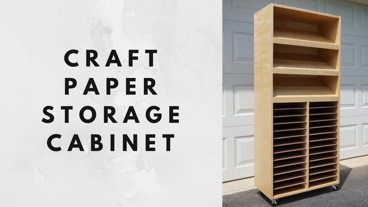 Craft Paper Storage Cabinet