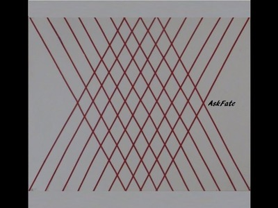 Diagonaly Striped Diamonds Wall Art - DIY Craft