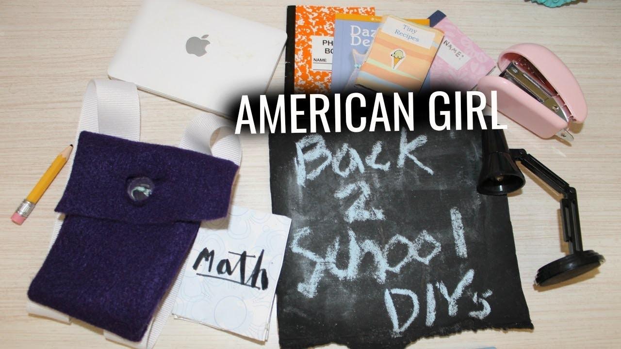 Diy american girl school supplies super easy my crafts for American girl diy crafts