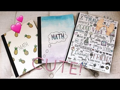 DIY BACK TO SCHOOL NOTEBOOK COVERS 2017!!   Julia Rome