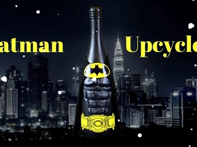 DIY Batman Wine Bottle Craft | How to | Requested