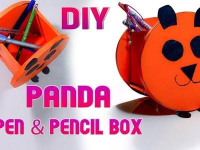 DIY Craft, How to make Panda pen Pencil box