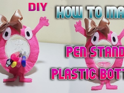 DIY, Craft, How to make Pen stand with plastic bottle