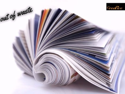 DIY Craft Project- How to make organiser with newspaper I Best out of Waste I Creative Diaries