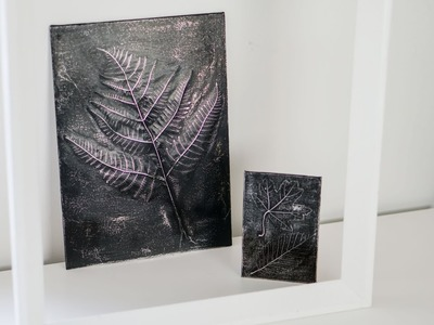 DIY - Fall craft - Embossed leaf art - Leaf relief
