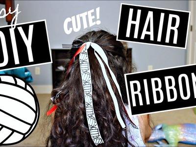 DIY Hair Ribbons for School Spirit!!