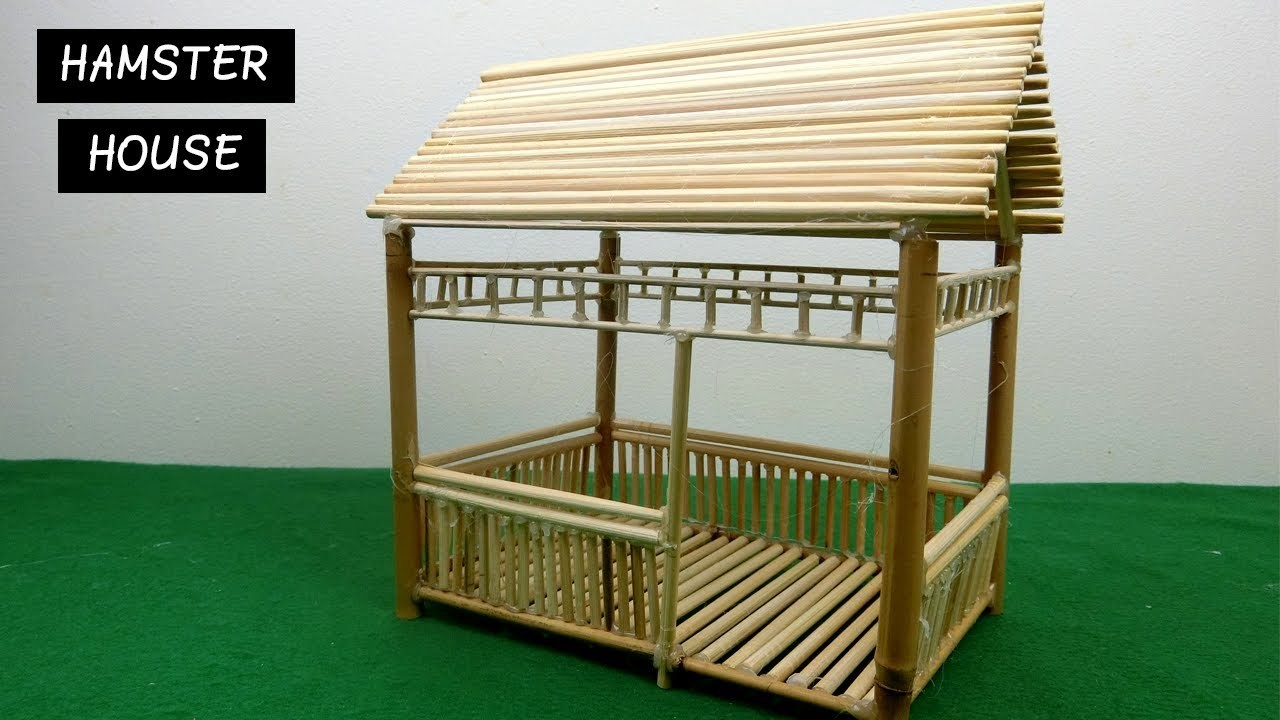 Diy Hamster House Miniature Hut From Bamboo Sticks 13 Easy Craft