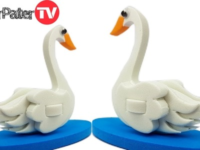 DIY How to Make 3D Swan Bird   Bird Making Craft for Kids   Create & Play Imagimake Fun Videos