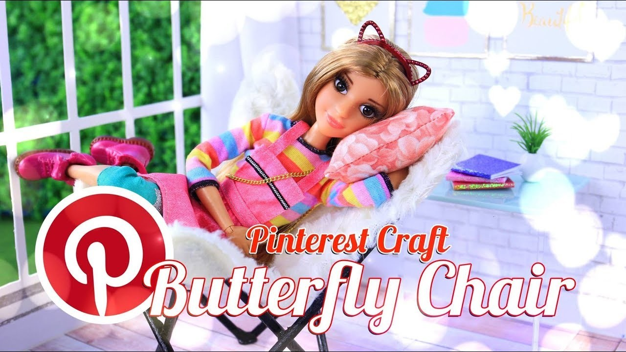 DIY - How to Make: Doll Butterfly Chair | Pinterest Craft | Dollhouse Furniture