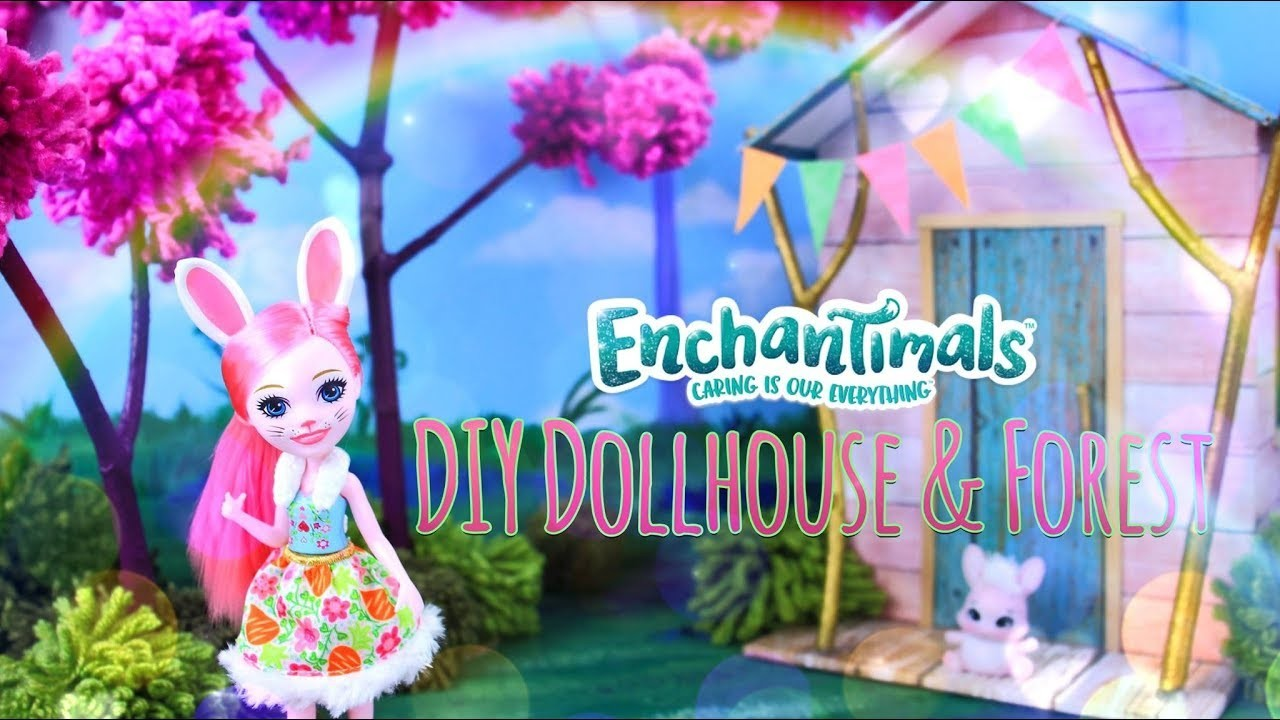 DIY - How to Make: Enchantimals Dollhouse & Forest | Craft with your Enchantimals Besties