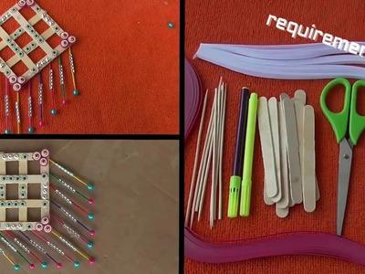 DIY Ice Cream Sticks Wall Decor Craft || Popsicle Sticks Wall Hanging Craft Ideas
