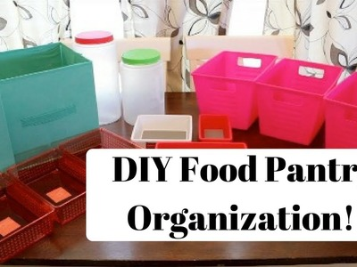 DIY Kitchen Pantry Organization! Dollar Tree Organization!!