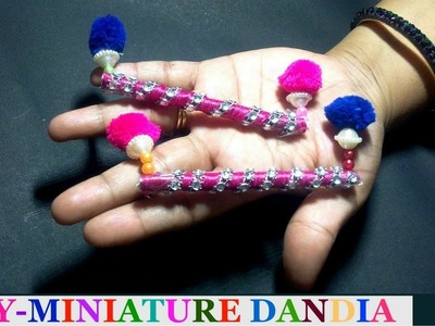 Diy-Miniature Dandia from paper | Miniature Craft tutorial-navratri special | best out of waste