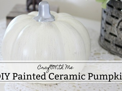 DIY Painted Ceramic Pumpkins | Craft With Me