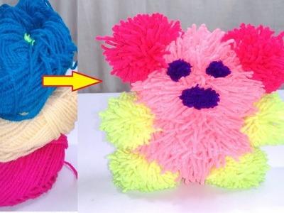 DIY pom pom Teddy Bear Art and crafts for kids Craft ideas