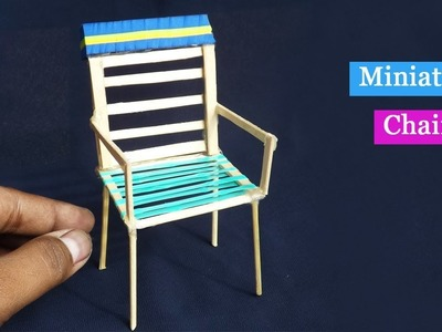 DIY Popsicle stick Chair   Easy Craft for kids
