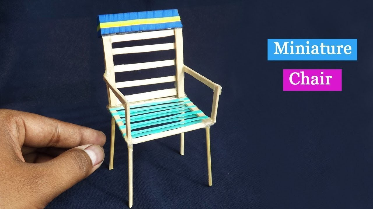 DIY Popsicle stick Chair | Easy Craft for kids