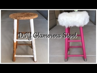 Magnificent How Diy Quickie Glamorous Fur Vanity Stool Diy Quickie Uwap Interior Chair Design Uwaporg