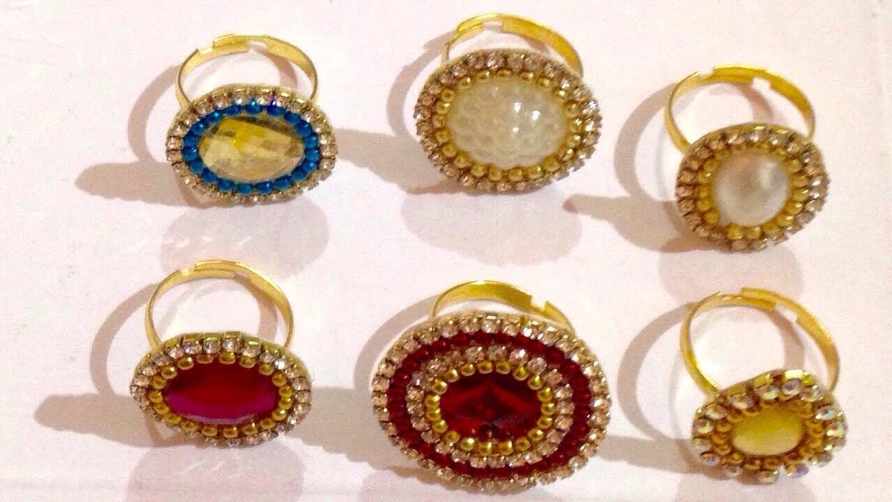 DIY rings ???? || Make at Home || jewellery making tutorial || art & craft studio