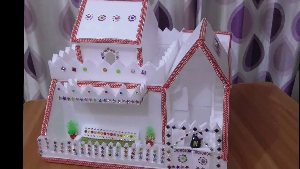 DIY - Thermocol House    How To Make House    Thermocol Craft For